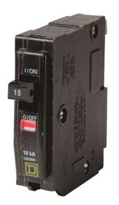 SQUARE D QO115 : MINIATURE CIRCUIT BREAKER 120/240V 15A