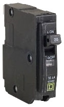 SQUARE D QO125 : MINIATURE CIRCUIT BREAKER 120/240V 25A