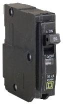 SQUARE D QO125 : MINIATURE CIRCUIT BREAKER 120/240V 25A