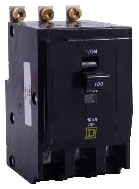 SQUARE D QOB3100 : MINIATURE CIRCUIT BREAKER 240V 100A