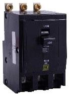 SQUARE D QOB390 : MINIATURE CIRCUIT BREAKER 240V 90A