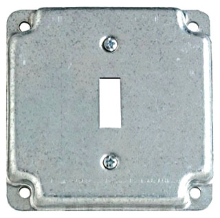 """STEELCTY RS9 4"""" SQUARE SURFACE COVER 5CU 1-TOGGLE, 1/2"""" DEEP"""