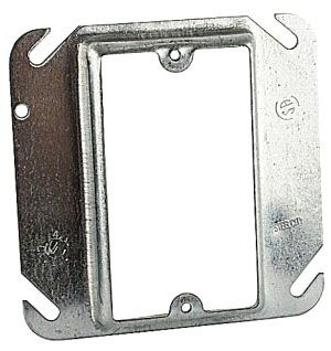 STEEL-CITY 52C14-5/8 1-GANG SQUARE DEVICE COVER 4CU 4 X 5/8IN RAISED