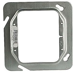 STEELCTY 72C17 4-11/16-IN SQUARE BOX COVER, STEEL, 6.3CU, RAISED