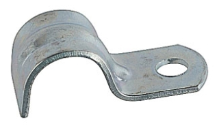 STEEL-CITY HS406 2-IN PIPE STRAP, RIGID/IMC, MALLEABLE IRON, 1 HOLE