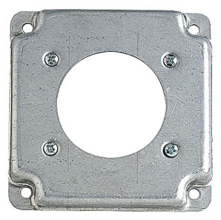 STEEL-CITY RS13 4-IN SQUARE BOX COVER, STEEL, 5CU, 1-30/50A RECEPTACLE