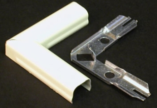 """WIREMOLD V511 IVORY 2"""" FLAT ELBOW"""